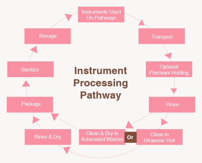 Sterile process at Rose Dental Instrument processing pathway