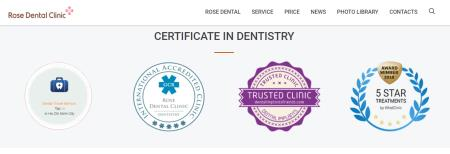 certificates in dental implant